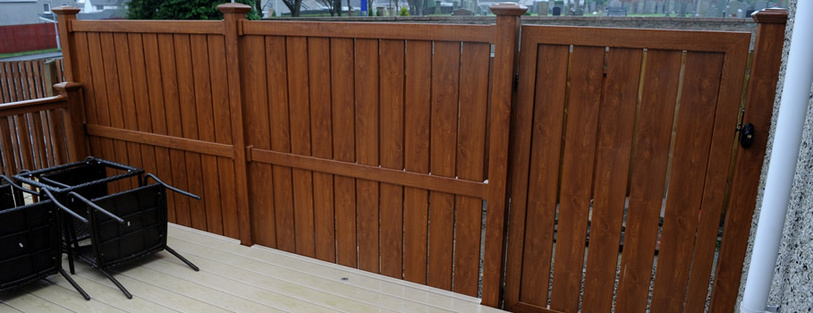 Semi Privacy PVCu Fencing in Pembrokeshire